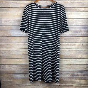 Eileen Fisher | Striped Organic Linen S/S Dress S